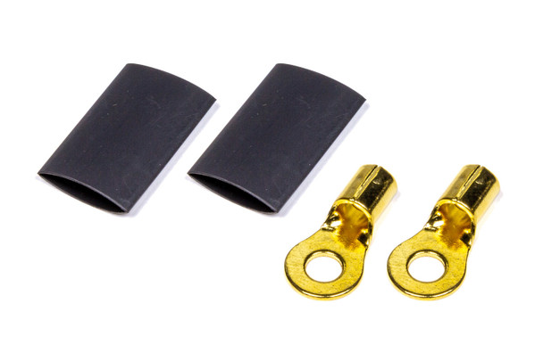#10 Ring Terminal 8-10 Ga Pair with heat shrink 57-475 Quickcar Racing Products
