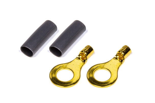 "1/4"" Ring Terminal 16-14 Ga Pair with heat shrink 57-478 Quickcar Racing Products"