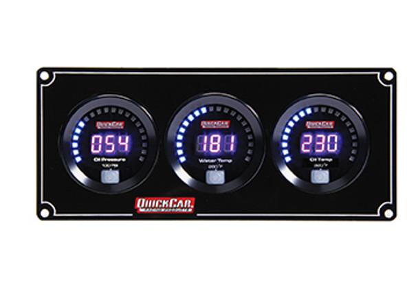 67-3011 Digital 3-Gauge Panel Quickcar Racing Products