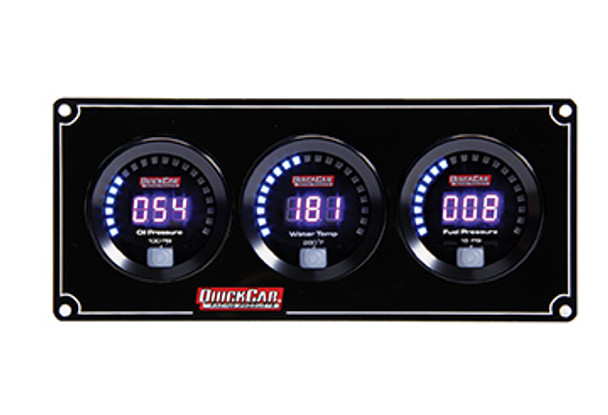 67-3012 Digital 3-Gauge Panel Quickcar Racing Products