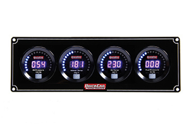67-4021 Digital 4-Gauge Panel Quickcar Racing Products