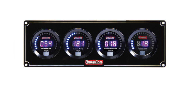 67-3046 Digital 3-1 Gauge Panel OP/WT/WP w/ Tach Quickcar Racing Products