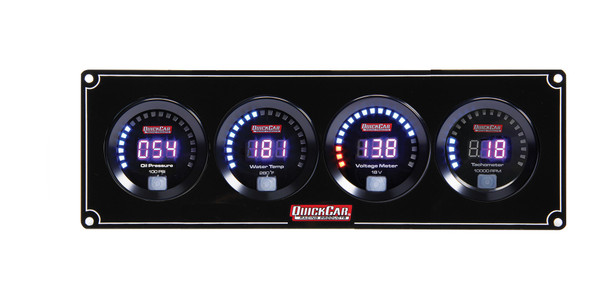 67-3047 Digital 3-1 Gauge Panel OP/WT/Volt w/ Tach Quickcar Racing Products