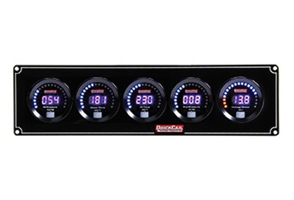 Digital 5-Gauge Panel OP/WT/OT/FP/Volts 67-5037 Quickcar Racing Products