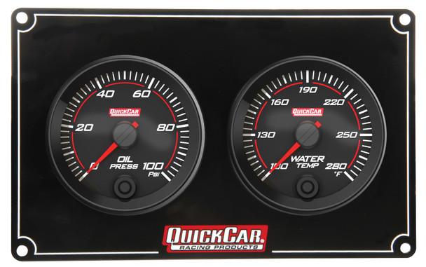 69-2001 Redline 2 Gauge Panel OP/WT Quickcar Racing Products
