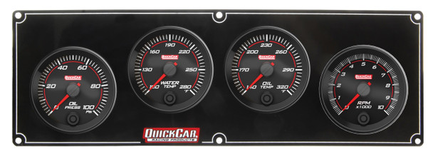 69-3241 Redline 3-1 Gauge Panel OP/WT/OT w/ 2-5/8in Tach Quickcar Racing Products