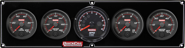 69-4056 Redline 4-1 Gauge Panel OP/WT/FP/WP w/ Recall Tac Quickcar Racing Products