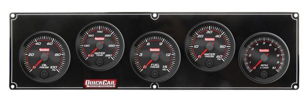 69-4256 Redline 4-1 Gauge Panel OP/WT/FP/WP w/ 2-5/8 Tach Quickcar Racing Products