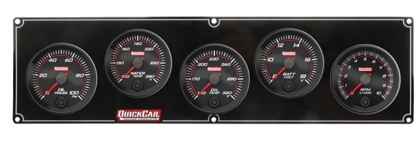 Redline 4-1 Gauge Panel OP/WT/OT/Volt w/ 2-5/8 Ta 69-4257 Quickcar Racing Products