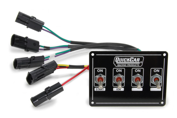 Extreme Dual Magnetic Pickup 4 Switch Panel 50-7414 Quickcar Racing Products