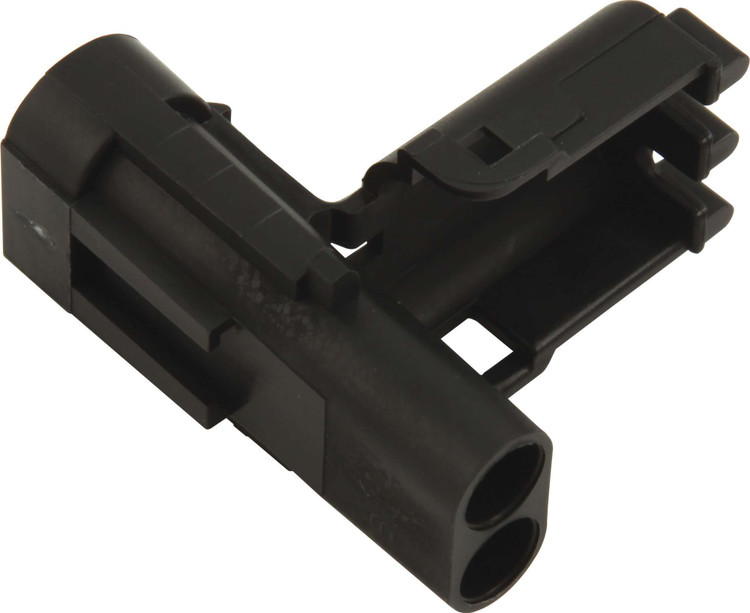 Electrical Connector - Weather Pack Sealed Connector - 2 Pin - Male - Plastic - Black - Each