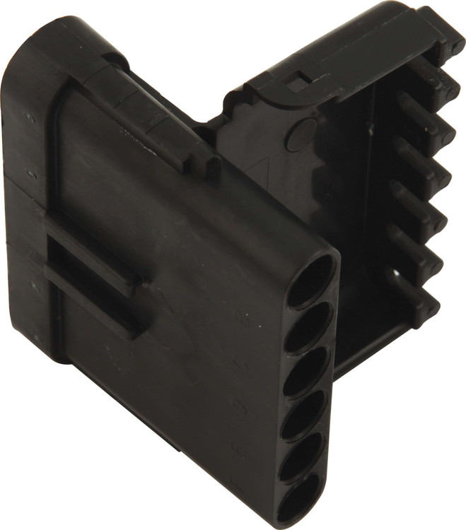 Electrical Connector - Weather Pack Sealed Connector - 6 Pin - Male - Plastic - Black - Each