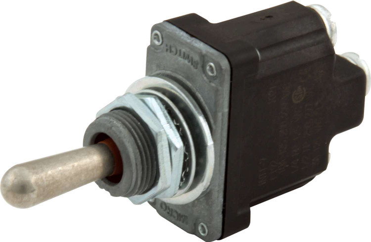 Toggle Switch - Micro - On/Off/On - Weatherproof - Single Pole - 25 Amp Continuous - 12V - Each