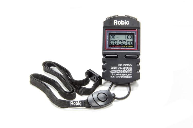 Stopwatch - Digital - 5 Lap Memory - Multi-Mode - Black - Each