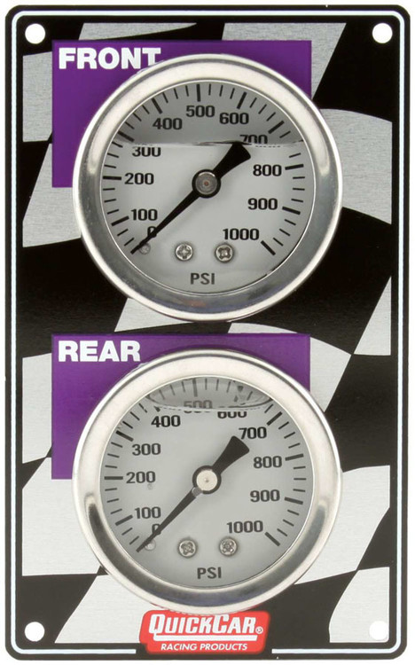 Gauge - Brake Bias - Dual Gauge - 0-1000 psi - Mechanical - Analog - White Face - 2-3/4 in Wide x 4-1/2 in High Vertical Panel - Aluminum - Kit