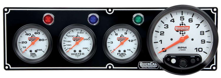 61-6742 3-1 Gauge Panel w/ Tach Black Quickcar Racing Products