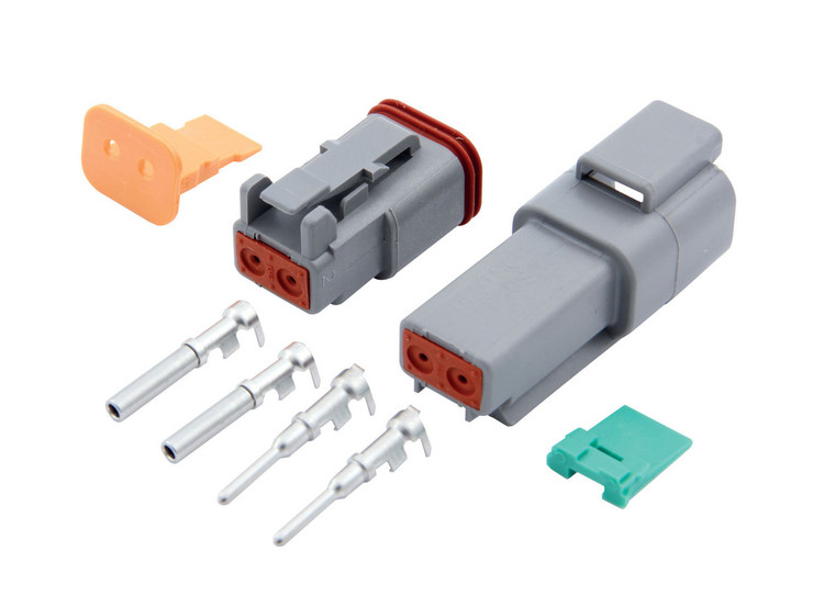 Electrical Connector - Deutsch Connector - 2 Pin - Housings/Pins/Seals/Wedge Locks - Kit