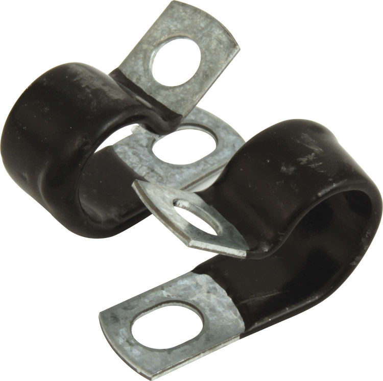 Line Clamp - Adel - 5/8 in ID - Rubber Lining - Aluminum - Set of 10