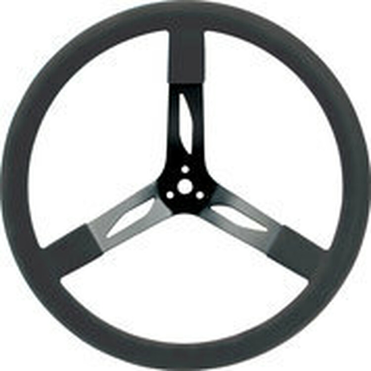 68-004  -  Steering Wheel - 17 in Diameter - 3 Spoke - Steel - Black - Each