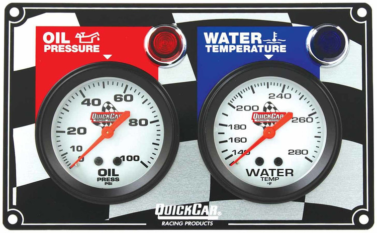 61-6001  -  Gauge Panel Assembly - Oil Pressure/Oil Temp/Water Temp - White Face - Warning Light - Kit