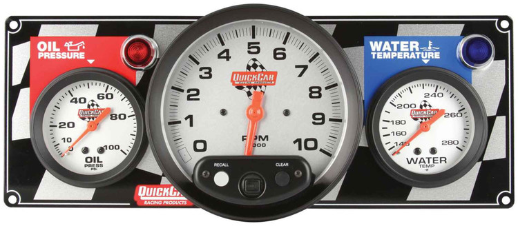 61-6031 2-1 Gauge Panel w/Tach Quickcar Racing Products