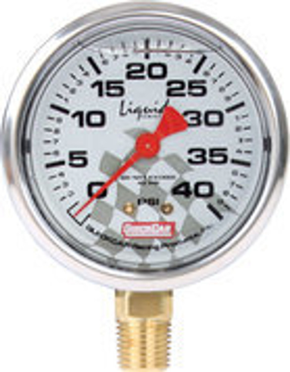 56-0041 - Tire Pressure Gauge Head - Liquid Filled - 0-40 psi - Quickcar Tire Pressure Gauges - Each