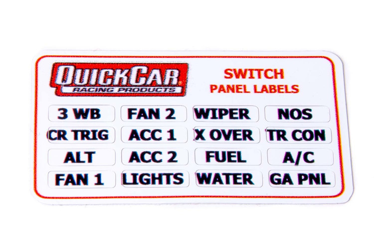 products ignition control panel parts page 1 quickcar Chevy Ignition Coil Wiring Diagram 50 004 switch panel stickers small ignition panels