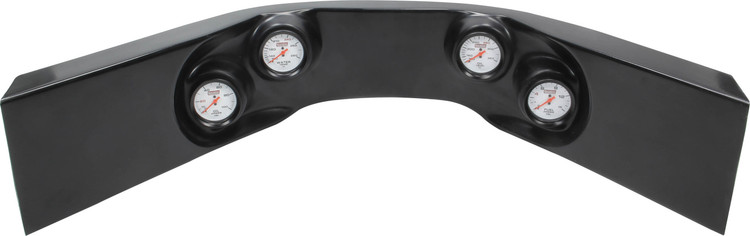 61-7724 - Fiberglass Molded Gauge Panel Assembly - Oil Pressure/Water Temp/Oil Temp/Fuel Pressure - Black