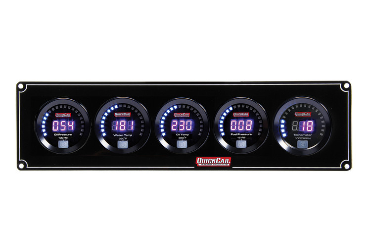 67-4051 Digital 4-1 Gauge Panel OP/WT/OT/FP w/ Tach Quickcar Racing Products