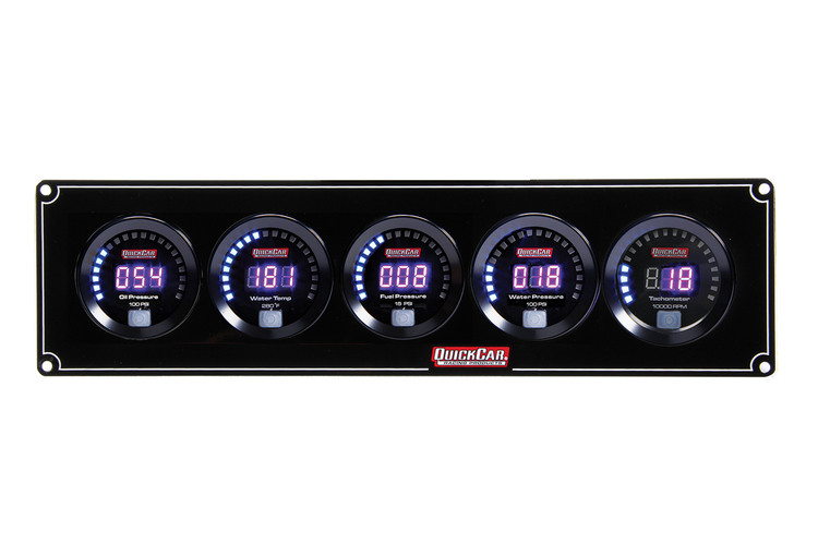 67-4056 Digital 4-1 Gauge Panel OP/WT/FP/WP w/ Tach Quickcar Racing Products