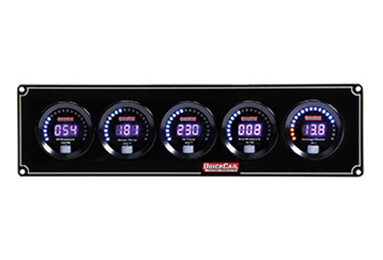 67-5037 Digital 5-Gauge Panel OP/WT/OT/FP/Volts Quickcar Racing Products