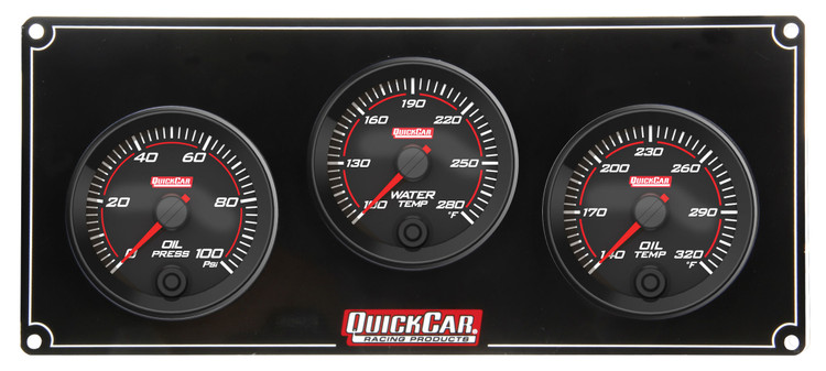 69-3011 Redline 3 Gauge Panel OP/WT/OT Quickcar Racing Products