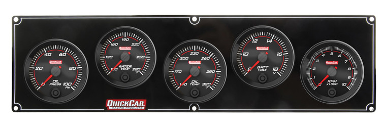 69-4257 Redline 4-1 Gauge Panel OP/WT/OT/Volt w/2-5/8 Ta Quickcar Racing Products