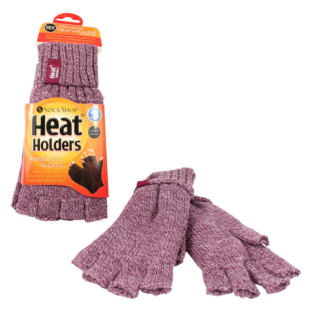 HEAT HOLDERS Fingerless Thermal Gloves-Womens
