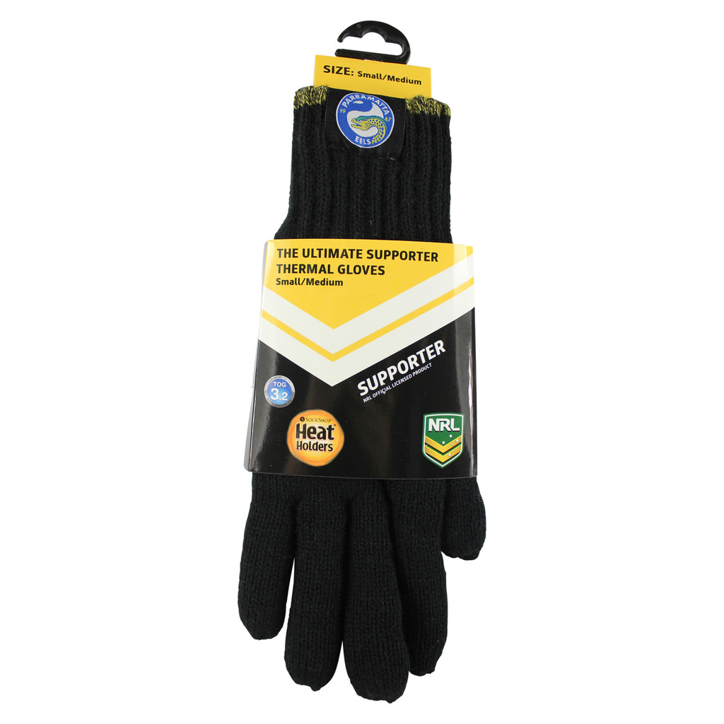 NRL Heat Holders Thermal Gloves Parramatta Eels