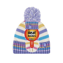 Girls Jacquard Thermal Hat with Pom Pom & Mittens-Childrens Sets