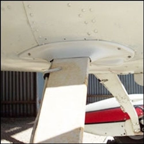 Installed Cessna 150 landing gear fairings for flat steel gear aircraft.. Product number 26-05-80A