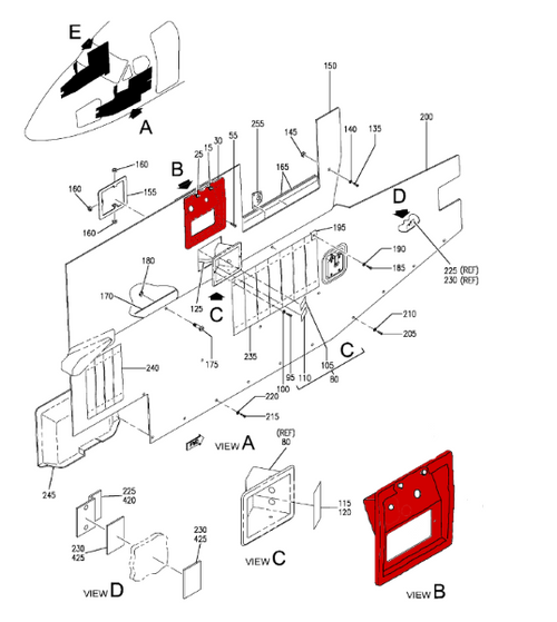 BEECHCRAFT 1900D ESCUTCHEON ASSY-OUTSIDE AIR TEMPERATUR P101-530156-47, 101-530156-47