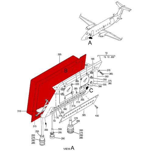 Beechcraft 1900, 1900C, 1900D Moisture Shield P114-320066-3, 114-320066-3.