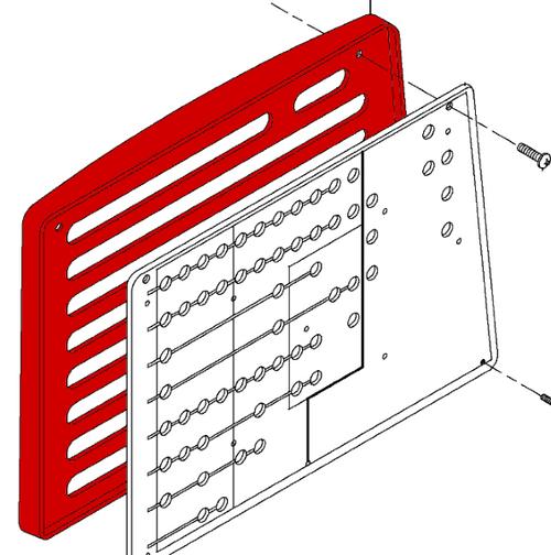 BEECHCRAFT 1900D Cover - Circuit Breaker Panel P114-320067-5, 114-320067-5