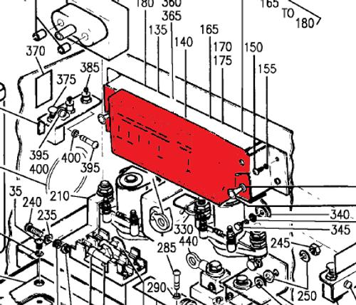 Beechcraft 1900, 1900C, 1900D Fuse Cover P114-361043-3, 114-361043-3.