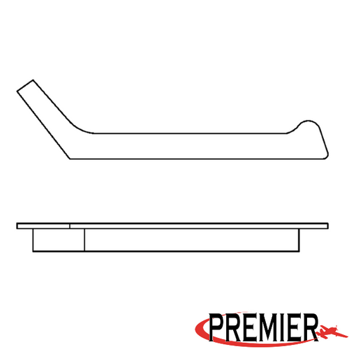 Piper PA-24, 30 Front Right Window Moulding P23314-02, 23314-02, 23314-03, 23314-04, 23314-05, 23314-002, 23314-003, 23314-004, 23314-005