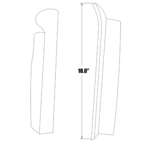 P23314-06 Piper PA-24, 30, 39 Cabin Door Window Moulding