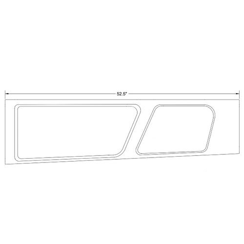Piper PA-24-260, PA-30 Front Right Window Moulding Assembly.