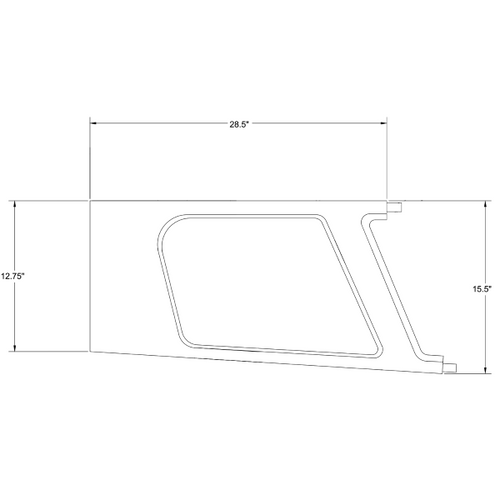 Piper PA-24-260, PA-30 Rear Left Window Moulding, P25417-00, 25417-00.