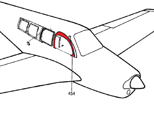 BEECHCRAFT A36, A36TC, B36TC,58, G58 MOLDING ASSY P58-530222-43, 58-530222-43