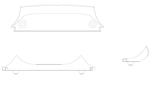 Cessna 150G, 150H, 150J, 150K Panel Assembly - Baggage Compartment Upper Aft. P0400129-58, 0400129-58