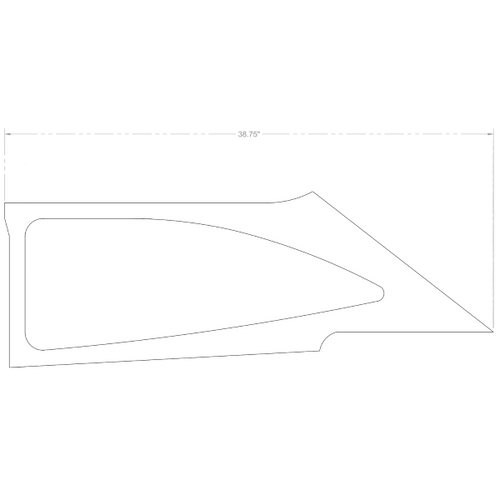 Cessna 172 RH Side Window Moulding P0500210-40, 0500210-40