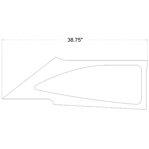 Cessna 172 LH Side Window Moulding P0500210-41, 0500210-41