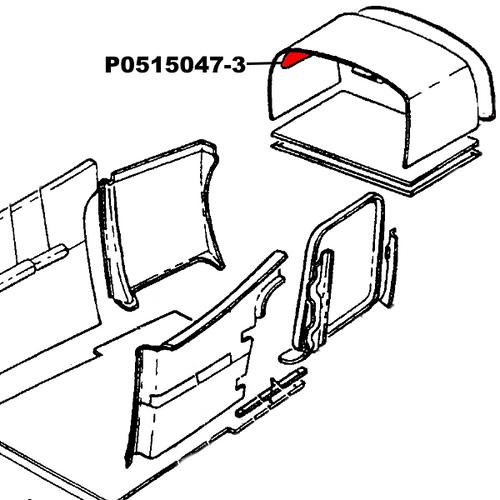 Cessna 172RG Cover Assy - ELT. P0515047-3, 0515047-3